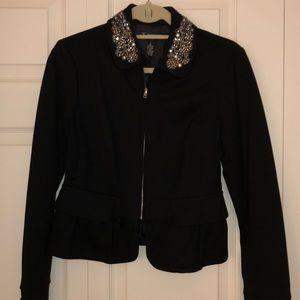 Inc Jacket with embellished collar